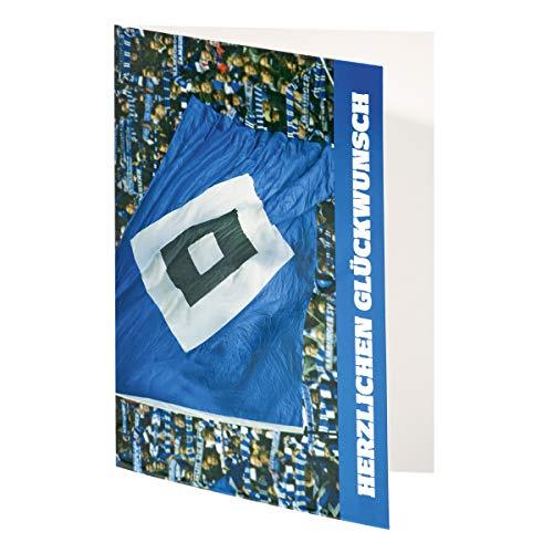 Hamburger SV HSV Karte/Geburtstagskarte / Glückwunschkarte ** Fahne ** 29627