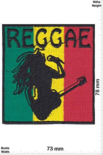 Patch - Reggae - Bob Marley - Color - Musik - Bob Marley - Bob Marley - Aufnäher - zum aufbügeln - Iron On