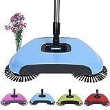 Balai Balayeuse à PoussièRe, 3 en 1 Sweeper automatique Poussez la main Broom, portative multifonctionnelle Machine de balayage Nettoyage manuel
