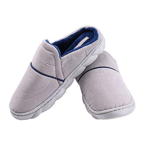 À Ne Pas Manquer Mens Chausson Intérieur Hiver Chaussures Printemps Chaud Chaussures Confortables Wk1701000201 Perméabilité À L'air (44/45 Eu, Bleu)