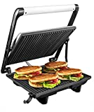 Aicok Sandwichera Grill 4-Serving, Panini Grill 2000W, Parrilla Eléctrica con Placas Antiadherentes, Bandeja de Goteo Extraíble, Tapa Flotante...