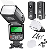 Neewer VK750II PRO i-TTL Flash *Deluxe Kit* for NIKON DSLR D7100 D7000 D5300 D5200 D5100 D5000 D3200 D3100 D3300 D90 D800 D700 D300 D300S D610, D600, D4 D3S D3X D3 D200 N90S F5 F6 F100 F90 F90X D4S D SLR Camera- Includes: Neewer VK750II Auto-Focus Flash + Wireless Trigger + N1-Cord & N3-Cord Cables + Hard & Soft Flash Diffuser + Lens Cap Holder