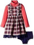 Nauti Nati Baby Girls' Dress (NAW16-314_Peach and Navy_18-24M)