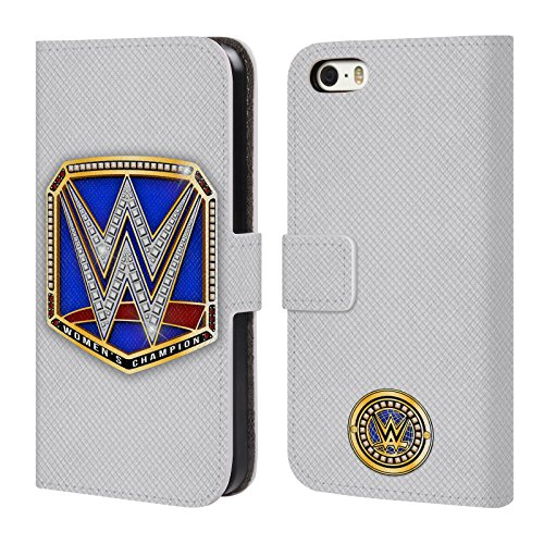 official-wwe-smackdown-womens-champion-title-belts-leather-book-wallet-case-cover-for-apple-iphone-5