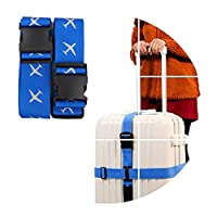 Luggage Straps, Coffs Adjustable Travel Packing Belt Luggage Strap Suitcase Belts Security Straps - Blue