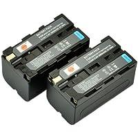 DSTE® 2x NP-F750 Li-ion Batería para Sony NP-F330, NP-F530, NP-F550, NP-F570 and Sony CCD-SC5, CCD-TRV80PK, DCR-TRV820, CCD-SC55, CCD-TRV81, DCR-TRV820K, CCD-SC65, CCD-TRV815, DCR-TRV9, CCD-TR3, CCD-TRV82, DCR-TRV900, CCD-TR3000, CCD-TRV85, DCR-VX200, CCD-TR3300, CCD-TRV86PK, DCR-VX2100, CCD-TR516, CCD-TRV87, DCR-VX2100E, CCD-TR555, CCD-TRV88, DCR-VX700, CCD-TR67, CCD-TRV90, DSC-D700, CCD-TR716, CCD-TRV91, DSR-PD170, CCD-TR76, CCD-TRV93, HDR-FX1, CCD-TR818, CCD-TRV95, HVR-Z1U etc...