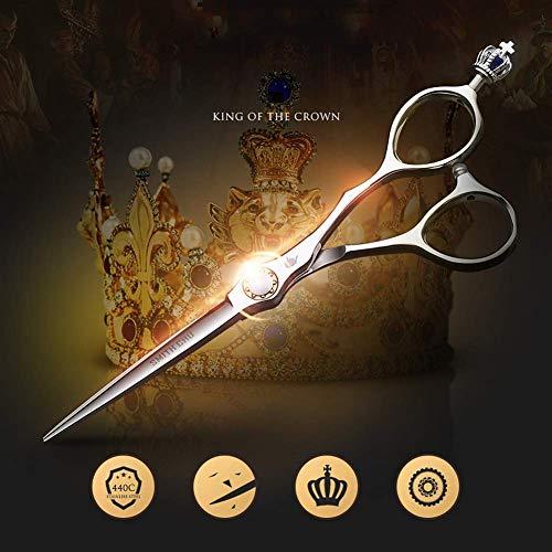 Knoijijuo 6.5 Zoll Profi Haarschere | Extra scharfe Friseurschere inkl. Etui - scharfer und präziser Schnitt | Perfekter Haarschnitt für Damen und Herren