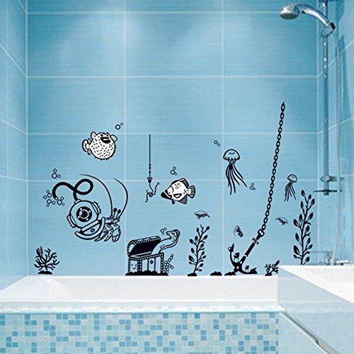 Preisvergleich Produktbild S.Twl.E Kinder Zimmer Treppen Hintergrund dekorative Wand Aufkleber Bad Wallpaper Aufkleber Cartoon einfach Schwarz und Weiß