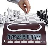 Fishlor Temporizador de ajedrez Digital Profesional, Reloj de ajedrez electrónico Multifuncional Temporizador de Cuenta Regresiva Digital Compacto con Accesorio de Juego de Mesa de Alarma