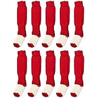 Gimer 6/061, Calzettoni Calcio Uomo, Rosso, L, Confezione da 10 pezzi