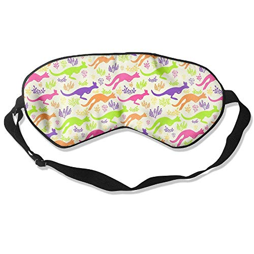 Novelty Colorful Kangaroo Unisex Sleep Mask Blinder Shade Eye Mask Eyeshade for Travel,Home,Hotel,Plane -