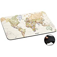 178 - World Map The World Design Macbook PC Laptop Anti-slip Mousepad Mouse Mat Tpu Leather-Slim 3MM