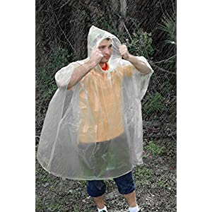 51TNBg6CNNL. SS300  - UST Clear Emergency Poncho with Single Packaging and Dependable Polyethylene Construction for Shielding from Unexpected…