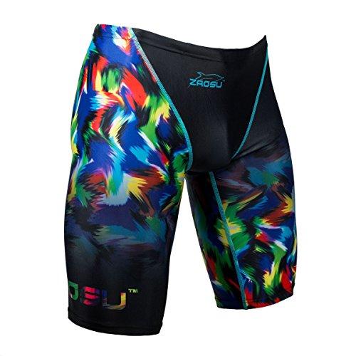 ZAOSU Wettkampf-Schwimmhose Z-Rainbow Junior Jammer für Jungen, Größe:104