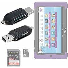 ¡2 en 1! Lector De Tarjetas SD + MicroSD / T-Flash Con OTG Para Cefatronic - Tablet Clan Motion Pro - Conexión USB 2.0 A MicroUSB - DURAGADGET