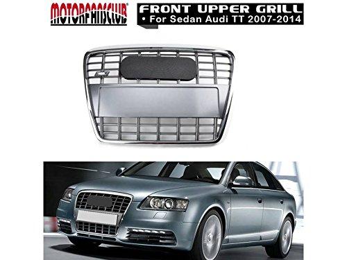 Preisvergleich Produktbild Motorfansclub Gitter Chrom vorne Kapuze Bumper Grill für A6 Quattro C6 2005-2011 S6 Style