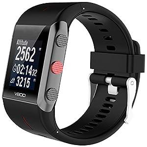 TUSITA Banda para Polar V800 con Protector de Pantalla, Pulsera de Silicona de Repuesto Wristband Accesorio para Polar Smart Watch (Negro)