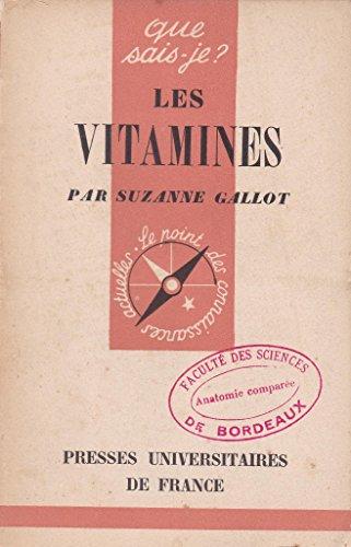 Les vitamines - Que sais-je ? n° 12