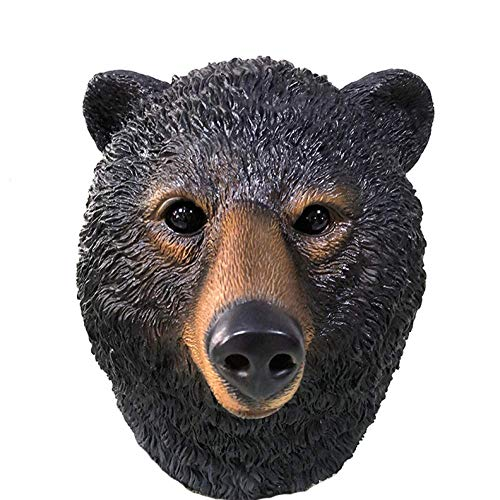 Halloween Maske Masken Tier Black Bear Head Party Maske Latex Neuheit Ball Erwachsene Tier Masken Cosplay Kostüm (Bear Head Kostüm)