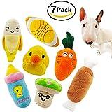 Squeaky Juguetes para perro, Ulable Mascota Cachorro Peluche Sonido Masticar Juguete Set para Pequeños Perros Medianos y Gatos Colores Vary (8 Pack)