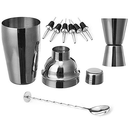 Lovinn Cocktail-Shaker, 9-teiliges Set, 500 ml, Cocktail-Shaker-Set, Mixer, Martini-Spirituosen, Bar-Barkeder-Set