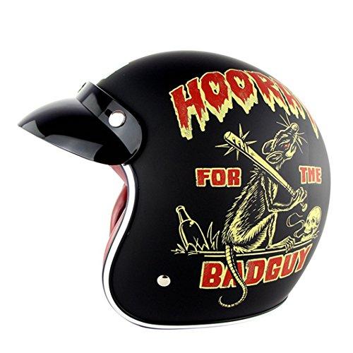Preisvergleich Produktbild Lidauto Motorrad Sommer Helme Cross Bikes Classic Vintage für Erwachsene Männer Frauen, Horry, S