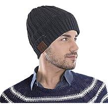 CestMall Cappello Cuffia Bluetooth Unisex Cuffia Cuffia di Lana Lavorata a Maglia  con Cuffie Bluetooth Senza 682f019c591f