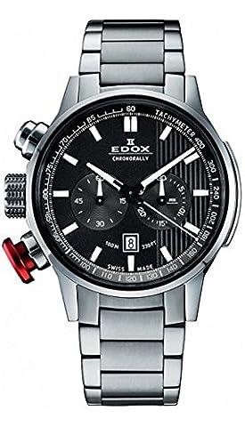 Edox Chrono Rally Chronographe Montre Homme 103023m Gin