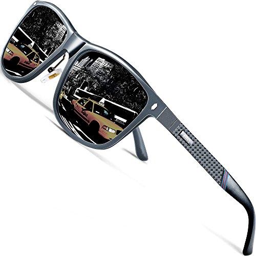 ATTCL Herren Polarisierte Sonnenbrille Al-Mg Metall Rahme Ultra Leicht 7001 Gray