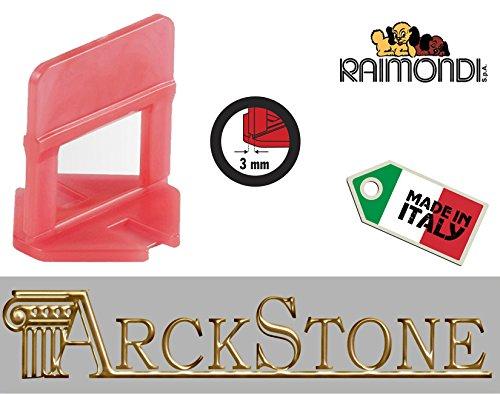 ARCKSTONE confezione da 500 basi 3-12 mm per fuga da 3 mm pavimento piastrella mattonella (Pinza Delle Mattonelle)