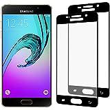 [2-Pack] Samsung Galaxy A5 2016 Cristal Templado, Nazzamo Samsung Galaxy A5 2016 Templado Vidrio Protector de Pantalla [Ultra-trasparente] [Sin Burbujas] [Resistente a Arañazos] [Cobertura completa] - Negro