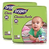 #8: Drypers Classicpantz Medium Size Diapers (Pack of 2, 58 Counts per Pack)