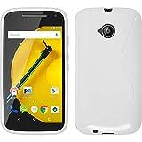 PhoneNatic Coque en Silicone pour Motorola Moto E 2015 2. Generation - S-Style blanc - Cover Cubierta + films de protection