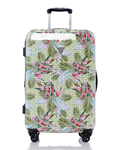 """Guess Depree Collection 24"""" 8-Wheeled Spinner, Green Print"""