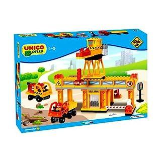 Androni Spielzeug 8527-0000-Große Baustelle mit Kran und Zwei Mittel