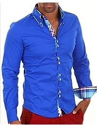 Neuf. Designer Chemise par Carisma Bleu Royal crmh-11016d'autres couleurs