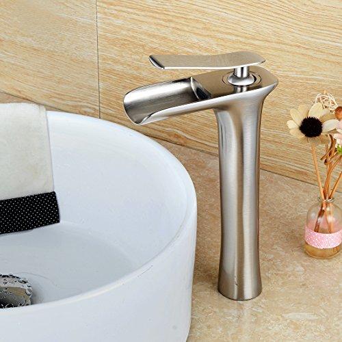 WYMBS Accessori per mobili creativo decorazione bagno Filo di rame europeo disegno rubinetto per lavabo a cascata acqua calda e
