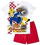 Feuerwehrmann Sam Kollektion 2018 Schlafanzug 98 104 110 116 122 128 Pyjama Fireman Sam Jungen Neu (Weiß-Rot, 104; Prime)