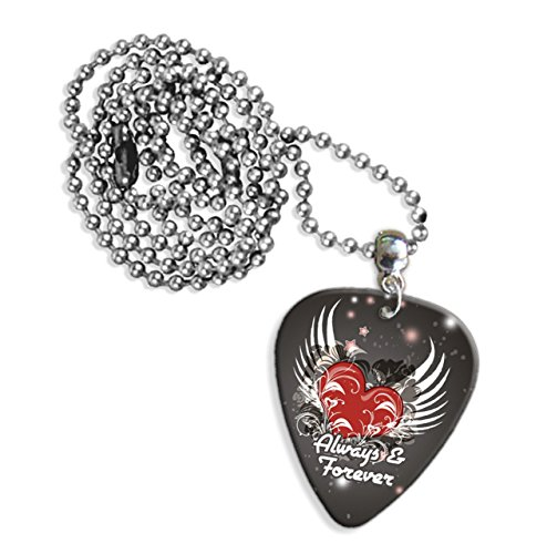always-forever-love-heart-logo-chitarra-pick-collana-gd