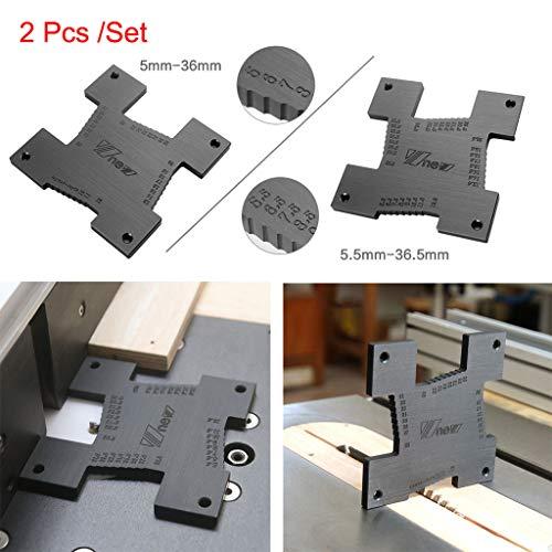 2 StüCke Messlineal, Chshe TM, Hohe PräZision HöHenmesser 5-36,5Mm Holzbearbeitung Router Tisch Elektrische KreissäGe Graviermaschine Messwerkzeug Lineal - Lock Knopf Baby