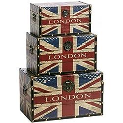 Baúl/maletín > Travel < London en Vintage Diseño 59x 36cm