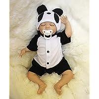 OUBL 18pulgadas 45 cm Baratas Reborn Bebe Muñeca Niño Silicona Vinilo Realista Baby Doll Boy con los Ojos Cerrados Dormir Toddler Magnetismo Juguetes
