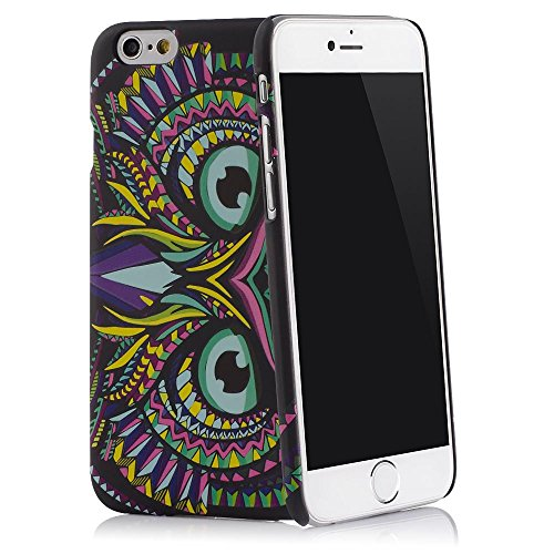 "Housse Smartphone slim belua Coque – Animals – Tapis Surface et fonction Glow in the Dark – QUADOCTA® iPhone 6 / 6S Plus (5,5"") angry Owl angry Owl"
