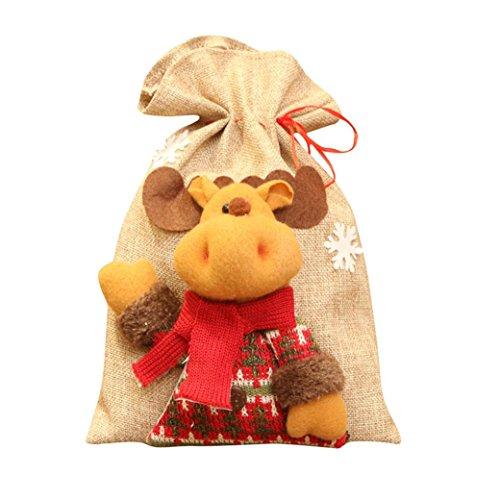 Malloom® Weihnachtsmann Schneemann Elk Weihnachten Süßigkeiten Verpackung Weihnachten Süßigkeiten Dekoration (A)
