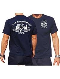 T-Shirt bleu marine: FDNY 150YEARS 1865–2015(150ans New York City Pompier)