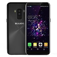 Bluboo S8??�5.7 Inch Full Sharp HD+ 2.5D Display 3GB/32GB???4G Unlocked Smartphone Android 7.0 MT6750T Octa-Core Dual SIM Mobile Phone with Dual Rear Camera(13.0MP+3.0MP) Fingerprint 3450mAh Battery OTA SIM-Free Cellphone-Black