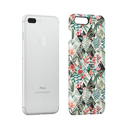 Tropical Hibiscus Flower & Flamingo Birds Pattern Apple iPhone 7 Snap-On Hard Plastic Protective Shell Case Cover Custodia Tropical Birds