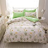 JFJWH Bettwäsche Bettbezug Set,100% Microfiber, Soft and Comfortable, Easy to Care, Print 4 Pieces@H_180*220cm
