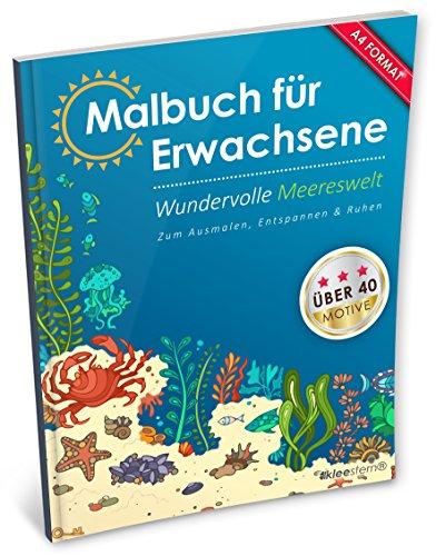 ene: Wundervolle Meereswelt (Kleestern®, A4 Format, 40+ Motive) (A4 Malbuch für Erwachsene) ()