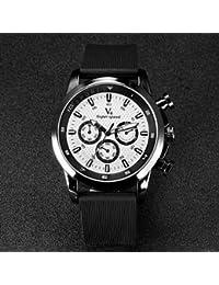 Relojes Hermosos, De los hombres v6 correa de caucho de diseño f1 cuarzo reloj ocasional ( Color : Negro )